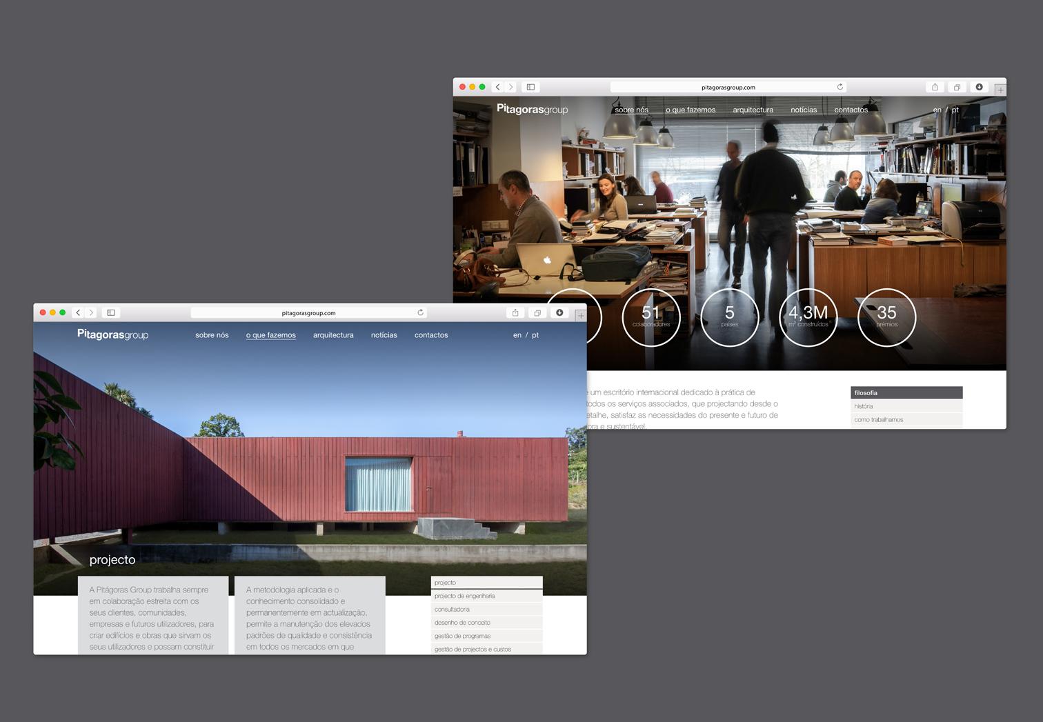 Website Pitágoras-sobre nós-o que fazemos
