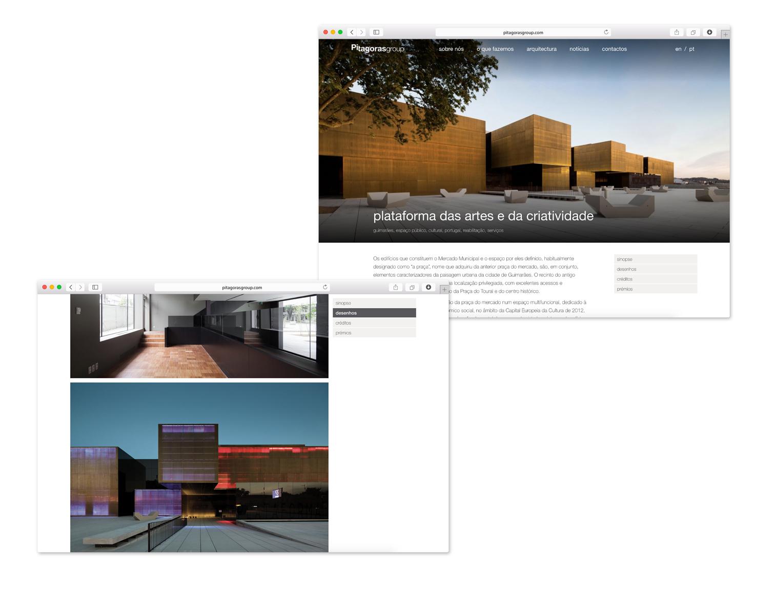 Website Pitágoras-projetos