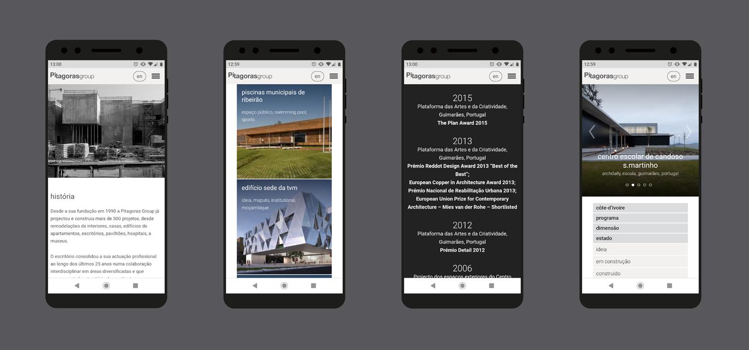 Website Pitágoras-mobile